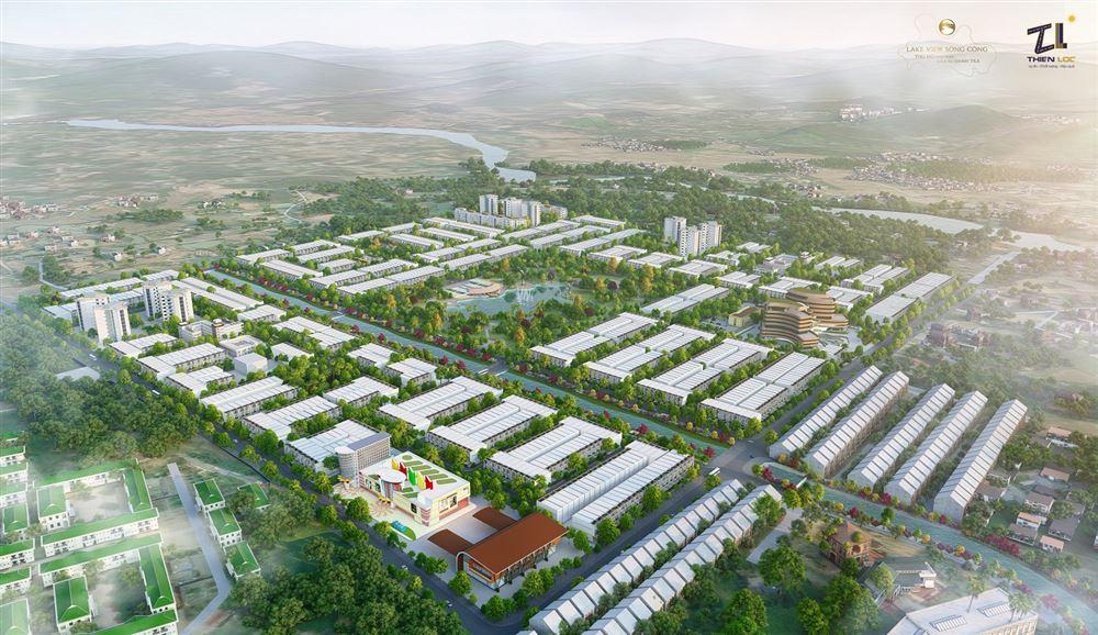 Dự án Đầu tư xây dựng đường Thống Nhất kéo dài đến KĐT sinh thái và từ nút giao đường Thống Nhất đến cầu Du Tán (Lake View Sông Công)