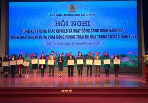 Công đoàn Công ty CP Đầu tư Xây dựng Thiên Lộc và Phó Tổng Giám đốc Vũ Thế Anh được BCH Liên đoàn Lao động TP. Hà Nội tặng Bằng khen
