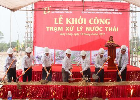 Công ty Cổ phần Đầu tư Xây dựng Thiên Lộc tổ chức khởi công xây dựng trạm xử lý nước thải tại dự án