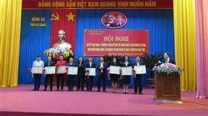 Phó Tổng Giám đốc Nguyễn Thị Thanh Trang tham dự Sơ kết Chương trình hỗ trợ xây dựng nhà ở cho người có công, CCB nghèo, hộ nghèo tại Hà Giang