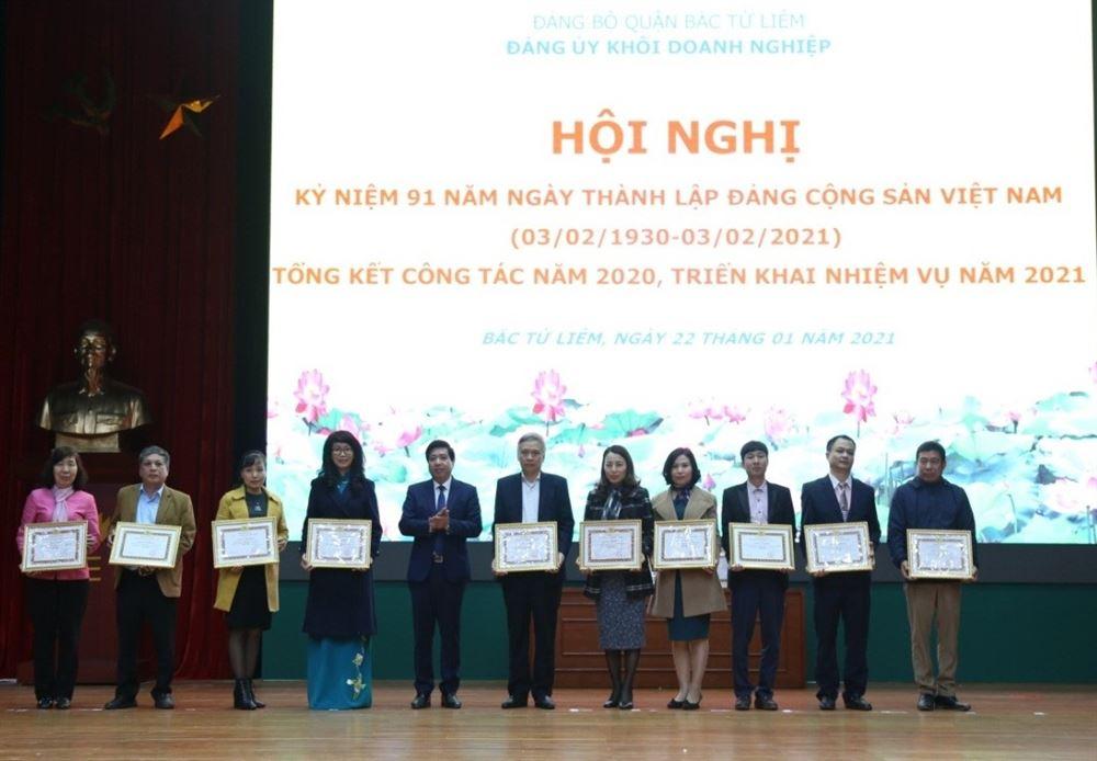 Tham dự Hội nghị Kỷ niệm 91 năm ngày thành lập Đảng Cộng sản Việt Nam (03/02/1930-03/02/2021), tổng kết công tác năm 2020, triển khai nhiệm vụ năm 2021 của Đảng ủy Khối Doanh nghiệp Bắc Từ Liêm nhiệm kỳ 2020 – 2025