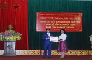 Công ty Cổ phần Đầu tư Xây dựng Thiên Lộc chung tay vì người nghèo và hỗ trợ nhân dân Miền Trung khắc phục thiên tai