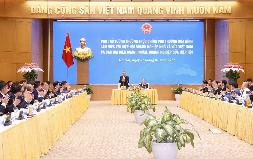 Công ty CP ĐTXD Thiên Lộc tham dự buổi gặp mặt của Phó Thủ tướng Thường trực Trương Hòa Bình với Đoàn đại biểu doanh nghiệp, Doanh nhân tiêu biểu