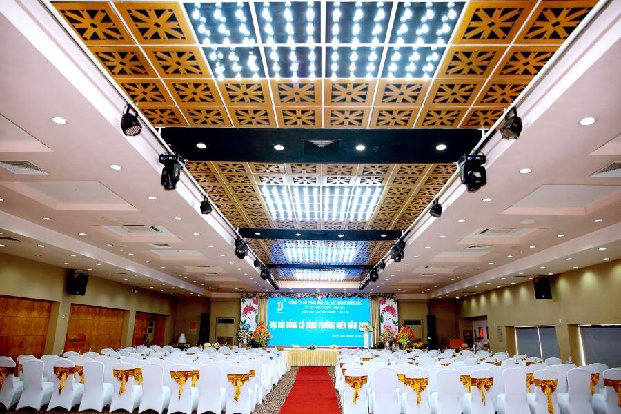 Quang cảnh Đại hội đồng cổ đông thường niên năm 2019 Công ty CP Đầu tư Xây dựng Thiên Lộc.