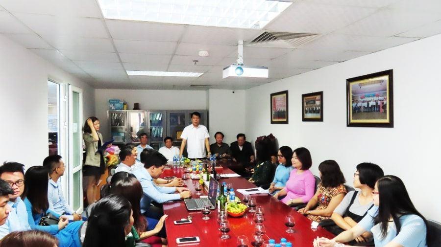 Chủ tịch HĐQT kiêm Tổng giám đốc Vũ Văn Trường phát biểu