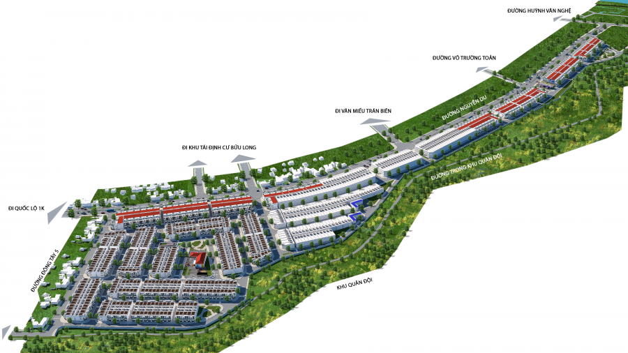 Dự án đầu tư xây dựng đường Nguyễn Du đoạn từ đường Nguyễn Du đến Huỳnh Văn Nghệ