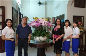 Đoàn Công ty Cổ phần Đầu tư Xây dựng Thiên Lộc mừng thọ Giáo sư, Anh hùng lao động Vũ Khiêu