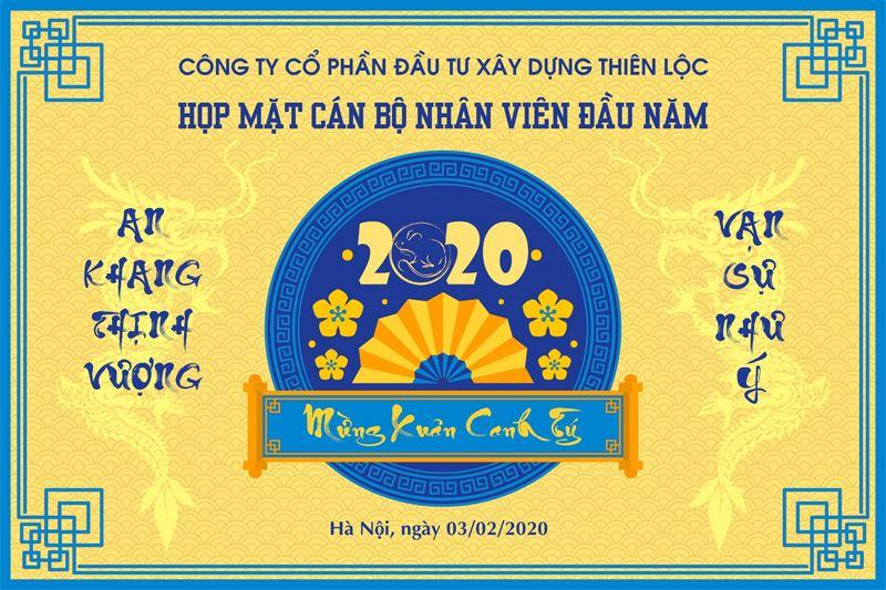 Lễ khai xuân đầu năm mới Canh Tý 2020 vào dịp kỷ niệm Ngày thành lập Đảng CSVN của Công ty Cổ phần Đầu tư Xây dựng Thiên Lộc
